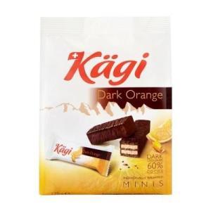 同梱・代引不可Kagi(カーギ) チョコウエハース ミニダークオレンジバッグ 125g×12袋