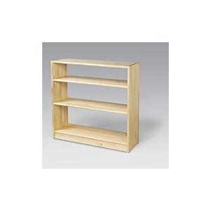 白木棚<大>背板なし 可動式 ブロック社|ohisamaya