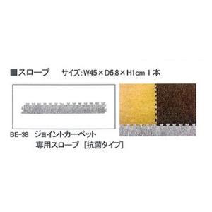 ジョイントカーペット専用スロープ【抗菌タイプ】 グレー 1本|ohisamaya