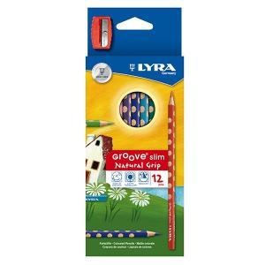 グルーヴスリム 12色セット (シャープナー付き) LYRA|ohisamaya
