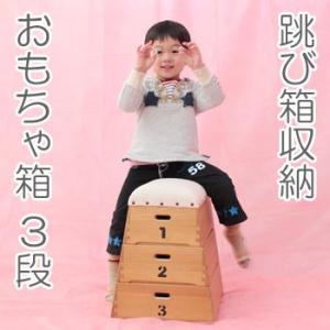 □跳び箱収納 おもちゃ箱 積上げ3段 シンバ ohkawakagu