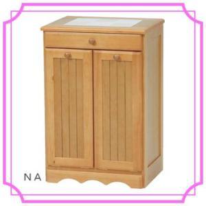 2分別ダストボックス 木製 分別ゴミ箱 キャスター付き MUD-3556NA/WS|ohkawakagu