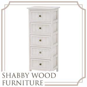 SHABBY WOOD FURNITURE チェスト シャビー 収納 引出し 5段 白 ホワイト 木製 ノスタルジック レトロ かわいい MCH-5375AW ohkawakagu