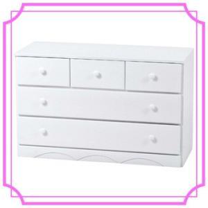 チェスト 家具 木製 安い 完成品 白 ホワイト 幅87 ピンク チェスト MCH-6891WH/PI ohkawakagu