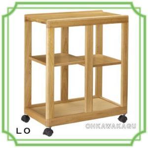 キッチンワゴン キャスター 木製 おしゃれ ナチュラル 完成品 ノナミ30LO/BR|ohkawakagu