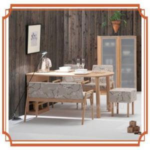 北欧家具 カフェ ダイニングテーブル5点セット 5人用 長方形150cm ベンチ カバーリング jhm-dtc1108|ohkawakagu