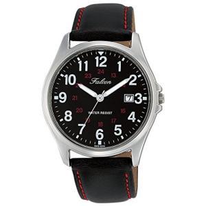 [シチズン キューアンドキュー]CITIZEN Q&Q 腕時計 Falcon ファルコン アナログ 革ベルト 日付 表示 ブラック D026-305 メンズ|ohmybox