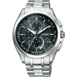 [シチズン]CITIZEN 腕時計 ATTESA アテッサ Eco-Drive エコ・ドライブ 電波時計 ダイレクトフライト 針表示式 薄型  マスコミモデル AT8040-57E メンズ|ohmybox
