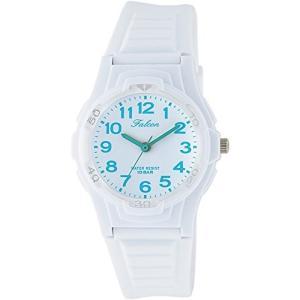 [シチズン キューアンドキュー]CITIZEN Q&Q 腕時計 Falcon ファルコン アナログ表示 10気圧防水 ウレタンベルト ホワイト ライトブルー VS06-005|ohmybox