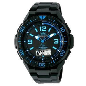 CITIZEN シチズン 腕時計 キューアンドキュー 電波ソーラー クロノグラフ 10気圧防水 MD06-335 メンズ|ohmybox