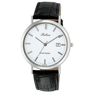 [シチズン キューアンドキュー]CITIZEN Q&Q 腕時計 Falcon ファルコン アナログ 革ベルト 日付 表示 ホワイト D020-301 メンズ|ohmybox