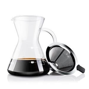 コーヒーサーバー コーヒードリッパー プレゼント Love-KANKEI スポンジブラシ付属 耐熱ガラス ステンレスフィルター 2層メッシュ フィルター不要 電子レン|ohmybox