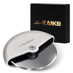 Love-KANKEI ピザカッター 家庭 事務 キャンプ 回転式 耐久性 コンパクト収納 ステンレス製|ohmybox