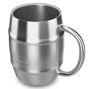 樽型ジョッキ 二重構造 ステンレス マグカップ ビアジョッキ BBQ用|ohmybox