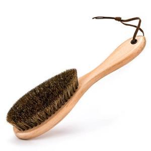Himart 洋服ブラシ 馬毛 天然木 静電除去 着物お手入れブラシ ホコリ取り 靴ブラシ スーツブラシ 清掃用 (一つセット)|ohmybox