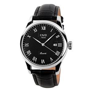 チーヴォメンズラグジュアリー日付カレンダー手首腕時計メンズカジュアルビジネスドレス防水時計シンプルなデザインファッションクラシックアナログクオーツ|ohmybox