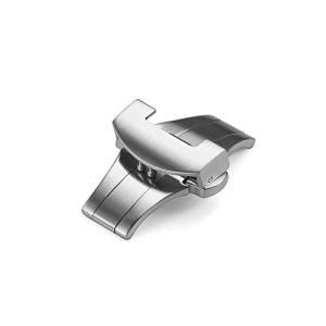 イストラップ]iStrap 22mm腕時計バンド尾錠 サテン仕上げプッシュ式Dバックル留め金具 PANERAIパネライ時計バンド対応 ohmybox