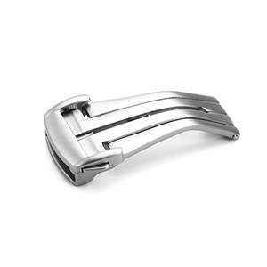 [イストラップ]iStrap 18mm 20mmステンレス鋼腕時計ベルトDバックル 両開き/観音開き時計尾錠 薄いオメガ(OMEGA)バンドストラップ対応 ohmybox