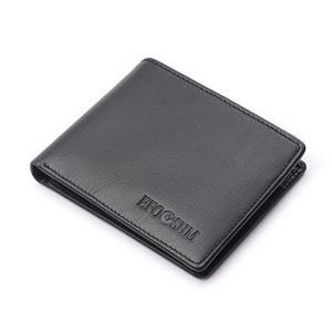 財布 軽量財布 本革 牛革 EFOSHM 二つ折り財布 カードたくさん入る メンズ (ベロア化粧箱入り)|ohmybox