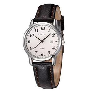 [ユリウス]JULIUS JA-508MA メンズ 男性 腕時計 アラビア数字 文字盤 革 バンド 日本製クオーツ 3気圧防水 ファッション カレンダー ウォッチ (ブラック)|ohmybox