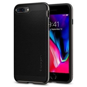 eef93f3288 Spigen シュピゲン スマホケース iPhone8 Plus / iPhone7 Plus 対応 二重構造 バンパー 米軍MIL規格取得 耐衝撃  ネオ・ハイブリッド2 055CS22373 (ガンメタ