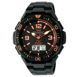 シチズン 腕時計 キューアンドキュー 電波ソーラー クロノグラフ 10気圧防水 MD06-315 メンズ|ohmybox