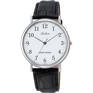 [シチズン キューアンドキュー]CITIZEN Q&Q 腕時計 Falcon ファルコン アナログ 革ベルト ホワイト Q996-304 メンズ|ohmybox