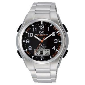 [シチズン キューアンドキュー]CITIZEN Q&Q 電波ソーラー腕時計 SOLARMATE アナログ表示 クロノグラフ 10気圧防水 ブレスレッ|ohmybox