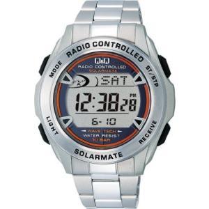 [シチズン キューアンドキュー]CITIZEN Q&Q 腕時計 SOLARMATE 電波ソーラー デジタル 10気圧防水 シルバー MHS7-200|ohmybox