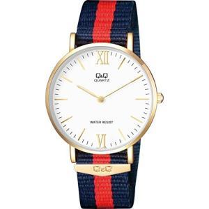 [シチズン キューアンドキュー]CITIZEN Q&Q 腕時計 ナイロンベルト 逆輸入 海外モデル ネイビー Q974J131Y メンズ|ohmybox