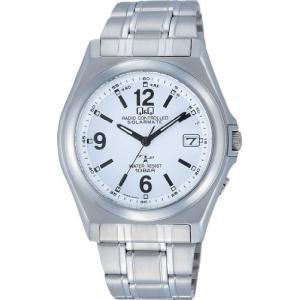 [シチズン キューアンドキュー]CITIZEN Q&Q 腕時計 電波ソーラー アナログ 10気圧防水 ホワイト HG08-204 メンズ 腕時計|ohmybox
