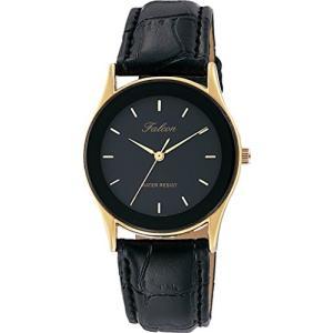 [シチズン キューアンドキュー]CITIZEN Q&Q 腕時計 Falcon ファルコン アナログ 革ベルト ブラック QA36-102 メンズ|ohmybox