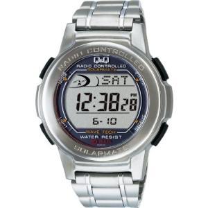 [シチズン キューアンドキュー]CITIZEN Q&Q 腕時計 電波ソーラー デジタル表示 クロノ 10気圧防水 シルバー MHS5-200|ohmybox