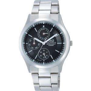 [シチズン キューアンドキュー]CITIZEN Q&Q 腕時計 SOLARMATE ソーラー電源 アナログ 10気圧防水 ブラック H014-202|ohmybox