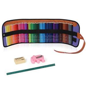 ZENKE 色鉛筆 72色 油性色鉛筆 鉛筆削り付き 消しゴム付き 収納ケース付き イラスト 知育 大人の塗り絵にも ohmybox