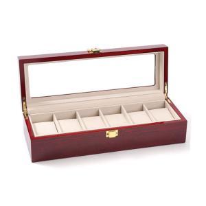 Kakuma  腕時計収納ボックス コレクションケース ウォッチ収納ケース 木製 おしゃれ収納ディスプレイ ピアノラッカー 6本用|ohmybox