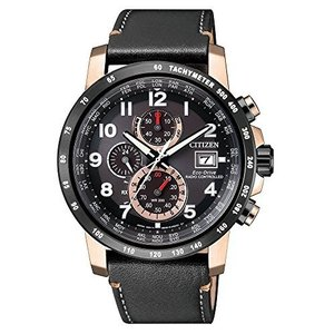 逆輸入 シチズン エコドライブ 電波ソーラー クロノグラフ ワールドタイマー ウォッチ 腕時計 メンズ ローズゴールド CITIZEN AT812|ohmybox