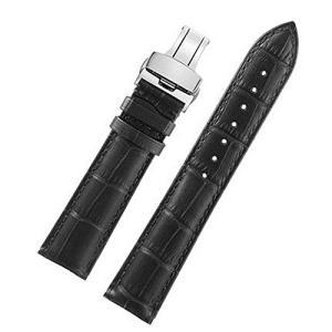 Nywing 19mm 時計本革ベルト 防水上質 Dバックル尾錠 レザー腕時計 メンズ Tissot...