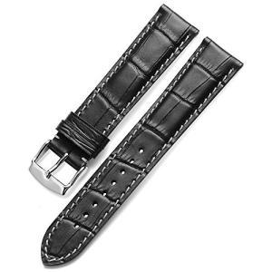 Nywing 時計ベルト19mm 本革ベルト 防水上質 レザー腕時計ベルトメンズ Tissot Se...