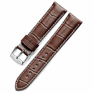 Nywing 17mm 時計本革ベルト 防水 上質レザー腕時計ベルトメンズ Tissot  Seik...