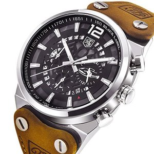 BENYAR 男性用 ミリタリークロノグラフクォーツ腕時計|ohmybox