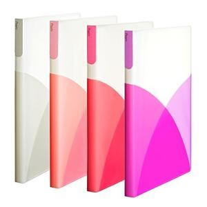 まとめ買い オシャレカラフル プラス クリアファイル A4 縦 40ポケット Pasty パスティ フルーツジェラート 4色組|ohmybox