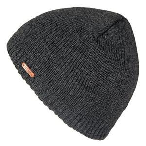 LETHMIK ニット帽 無地 メンズ ワッチキャップ ニットキャップ 普段使いに スノボ スキー 通学 バイク 登山 アウトドア ダークグレー ohmybox