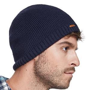 LETHMIK ニット帽 無地 メンズ ワッチキャップ ニットキャップ 普段使いに スノボ スキー 通学 バイク 登山 アウトドア ネイビー ohmybox