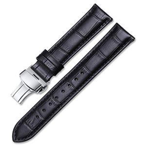 iStrap 時計ベルト 12mm Dバックル尾錠 交換ベルト鰐皮紋様 6色 腕時計 ストラップ 本革 おしゃれ 耐水性 バネ棒外しセット|ohmybox