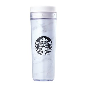 海外限定 スタバ マーブルホワイトタンブラー Starbucks Marble White Iconic 473ml [並行輸入品] (Marble)|ohmybox