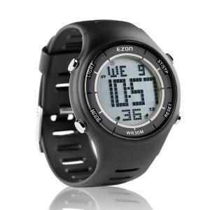 EZON ランニングウォッチ スポーツウォッチ 腕時計 軽量 IP67防水防塵 省エネ バックライト...