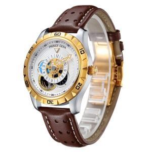 腕時計メンズ 機械式 PRINCE GERA 自動巻き 両面 スケルトン おしゃれ 人気 ブラック ユニーク 男性 ウォッチ [並行輸入品]|ohmybox
