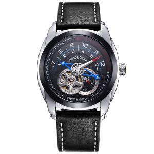 腕時計メンズ 機械式 PRINCE GERA 自動巻き 両面 スケルトン シースルーバック おしゃれ 人気 限定モデル ウォッチ [並行輸入品]|ohmybox