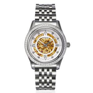 腕時計 スケルトン メンズ BINLUN 自動巻き 防水 機械式腕時計 夜光インデックス アナログ ウォッチ [並行輸入品]|ohmybox